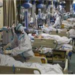 بستری یک بیمار مبتلا به کرونا در ایزوله تنفسی بیمارستان کیش