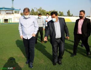بازدید سرمربی تیم ملی فوتبال ایران از امکانات ورزشی کیش